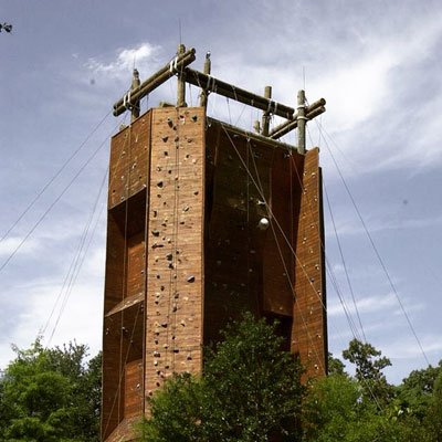 The Climbing Wall at James Island County Park