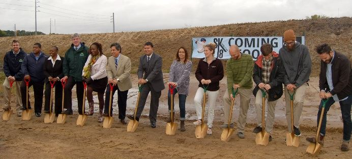 CCPRC and Pour It Now breaking ground on skate park