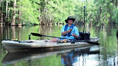 Image of Robert Vaughn Kayak Fishing
