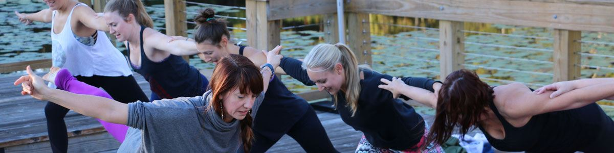 Wedding Yoga at the Lake House at Bulow