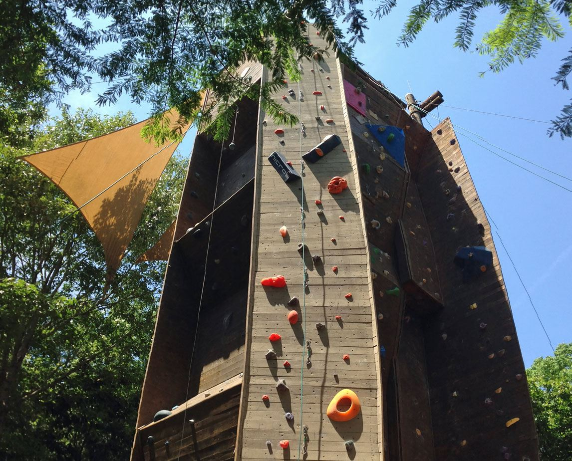 The Climbing-Wall at James Island County Park