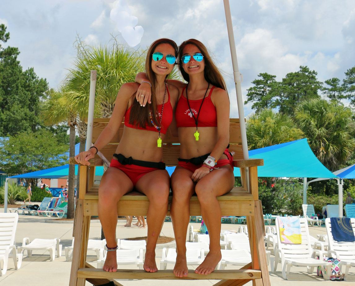 Identical Twin Lifeguards at Whirlin Waters Adventure Waterpark