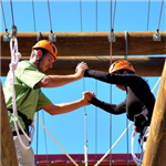 Image of a couple on The Challenge Course