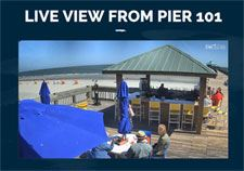 Click for Pier 101 web cam live at the Folly Beach Pier