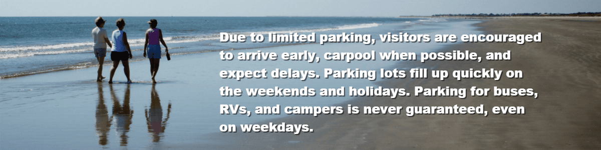 Due to limited parking, visitors are encouraged  to arrive early, carpool when possible, and expect