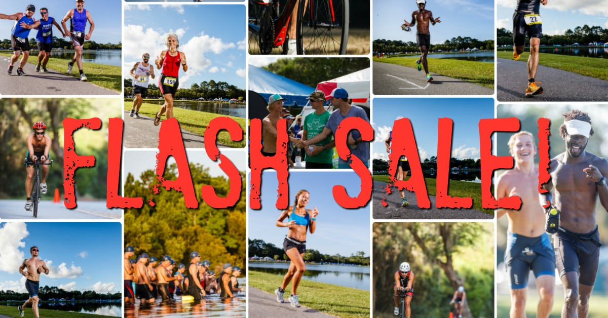 Collage of images from the Charleston Sprint Triathlon Series