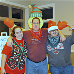 three participants at the Holiday Hoedown