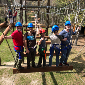 Family on the Challenge Course