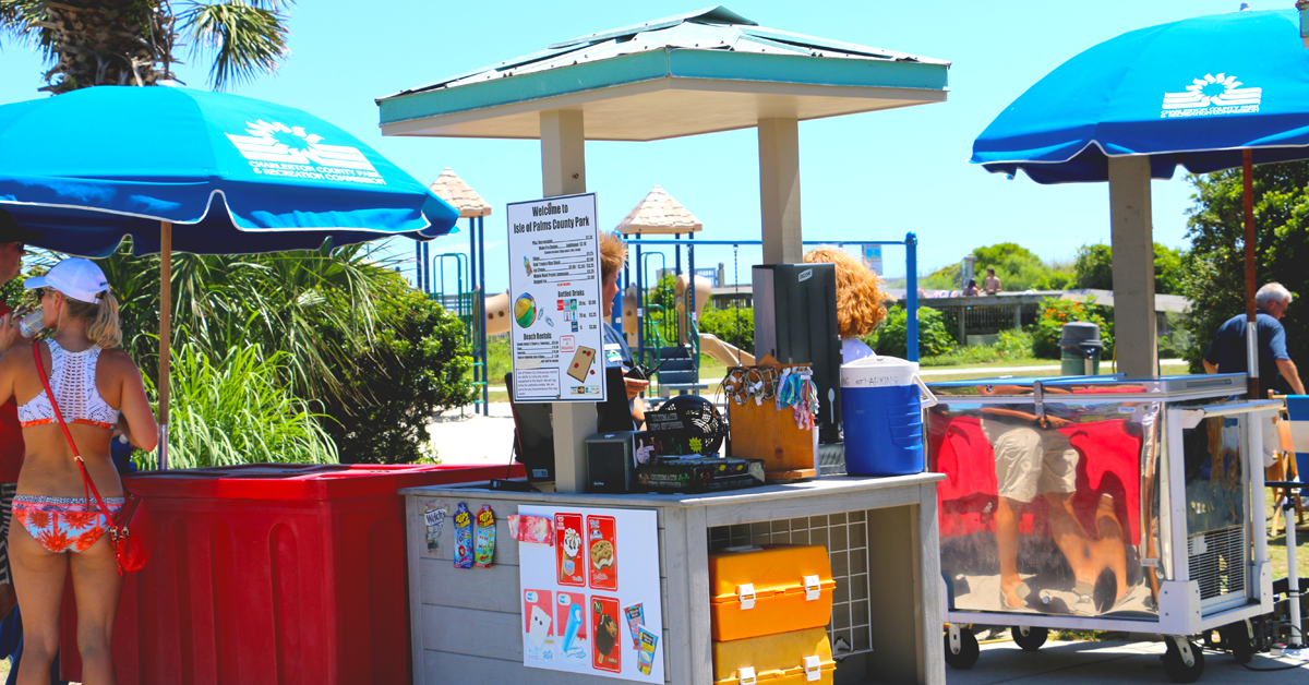 Isle-of-Palms-County-Park-Retail Cart