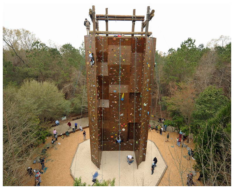 Aerial view of The Climbing Wall