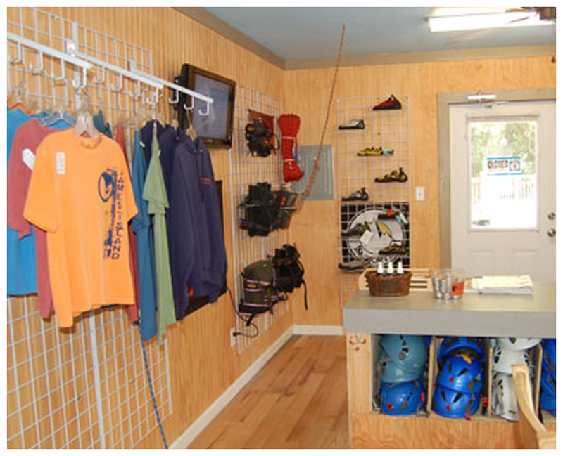 Interior of The Rock Shop