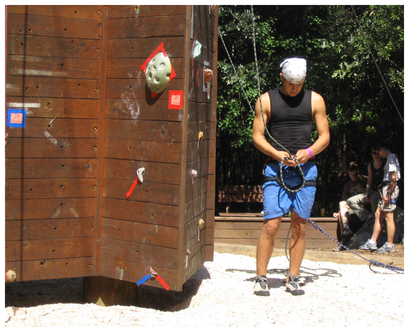 A man at The Climbing Wall