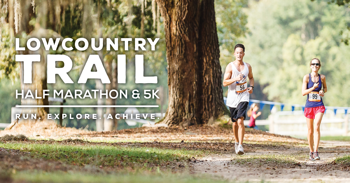 Two runners in the Lowcountry-Trail Half Marathon and 5K