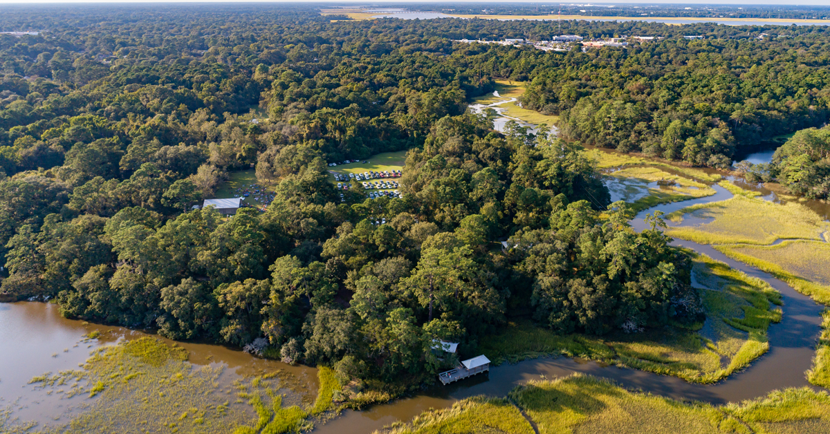 Aerial view of Old Towne Creek County Park