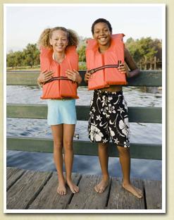 Kids Wearing Personal Flotation Devices (PFD&#39s)