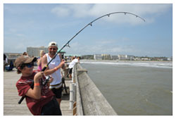 Fishing off Folly Beach Fishing Pier