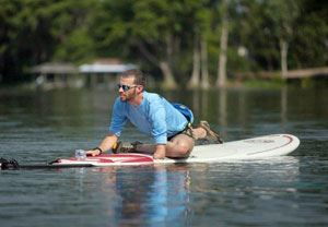 Image of Seth Cantley teaching SUP yoga