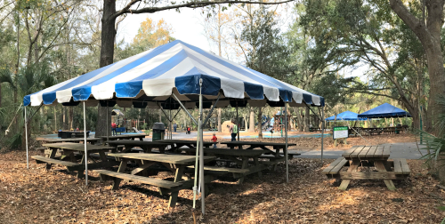 Big Toy Tent at Palmetto Islands County Park
