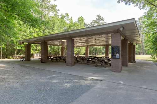 Exterior of the Tupelo Shelter at Wannamaker County Park