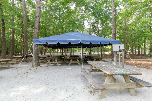 Exterior of the Lakeside Canopy at Wannamaker County Park