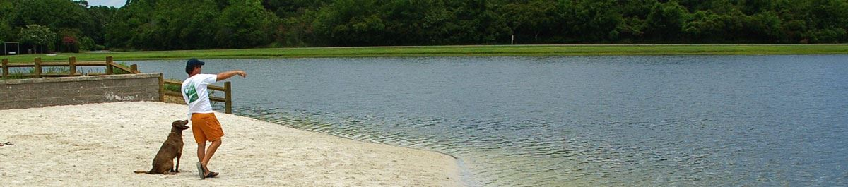 Image of the dog park at James Island County Park