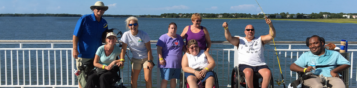 Adaptive Fishing program at the Mount Pleasant Pier