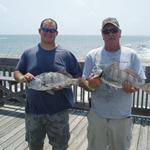 Brandon Mullin with a 6 lb., 10 oz. Black Drum and Marvin Price with a 6 lb, 5 oz. Black Drum caught during our July Monthly Tournament on Saturday, 7/30/10