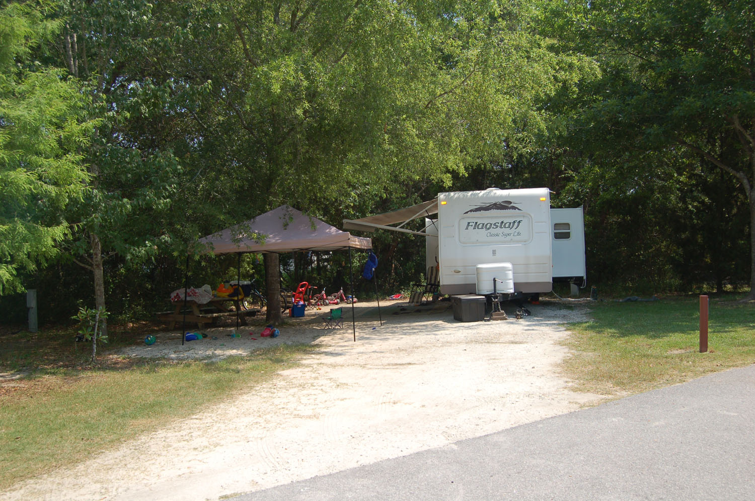 Image of Site #104 at the Campground at James Island County Park