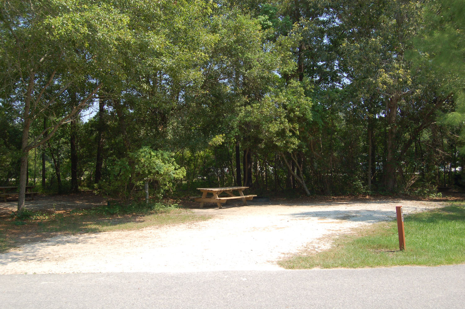 Image of Site #107 at the Campground at James Island County Park