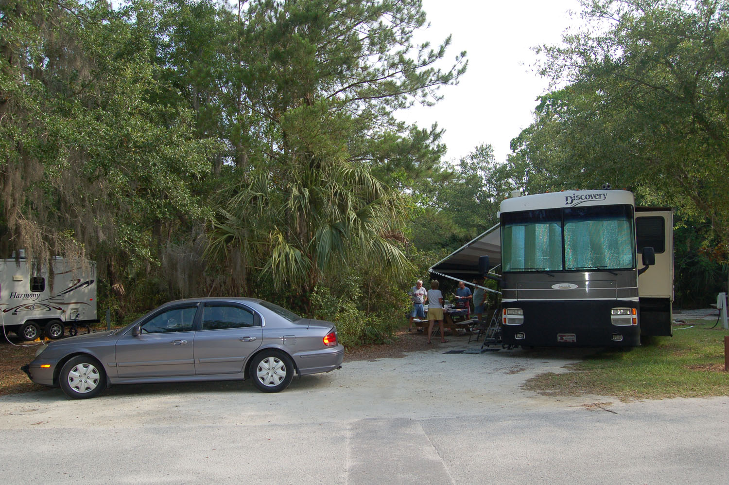 Image of campsite #15 at the Campground at James Island County Park