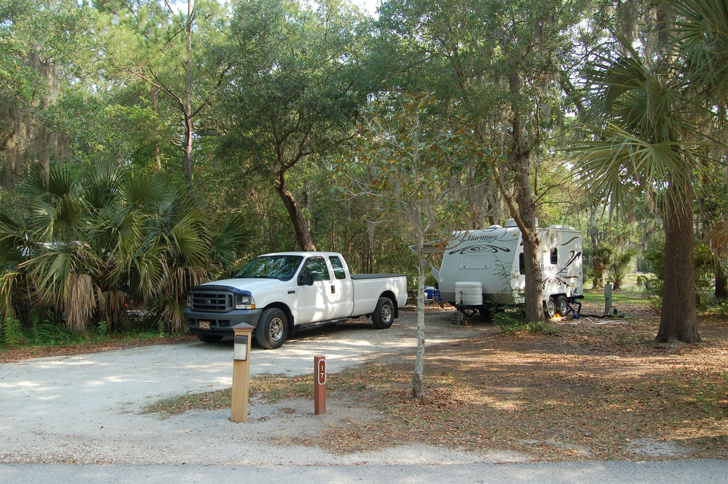 Image of campsite #17 at the Campground at James Island County Park