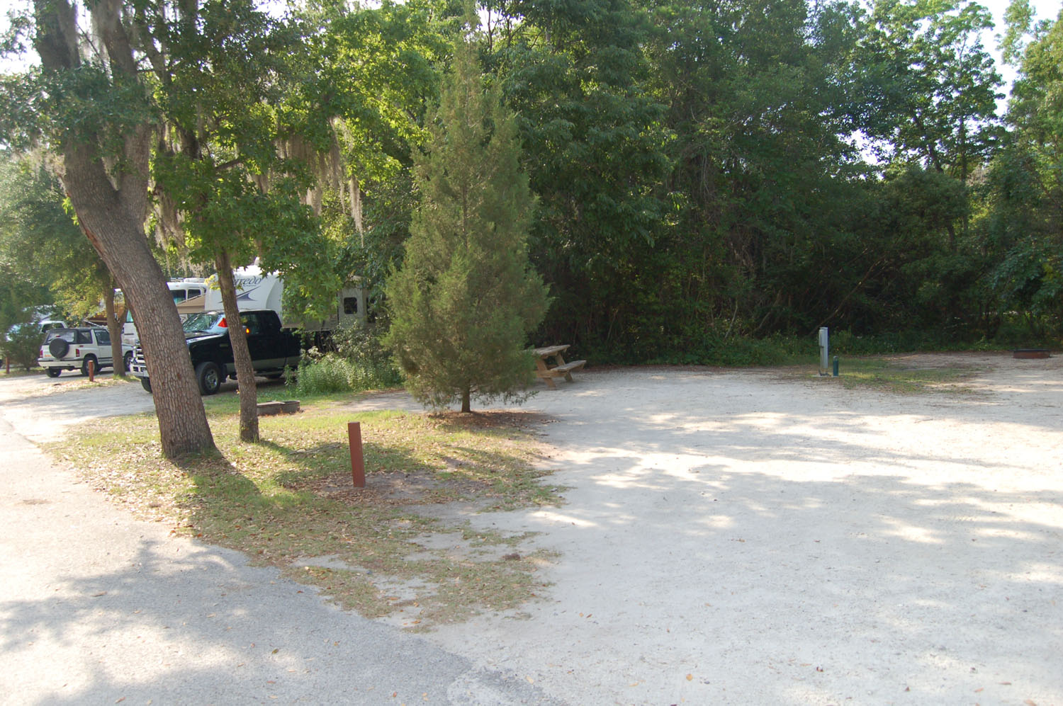 Image of campsite #18 at the Campground at James Island County Park