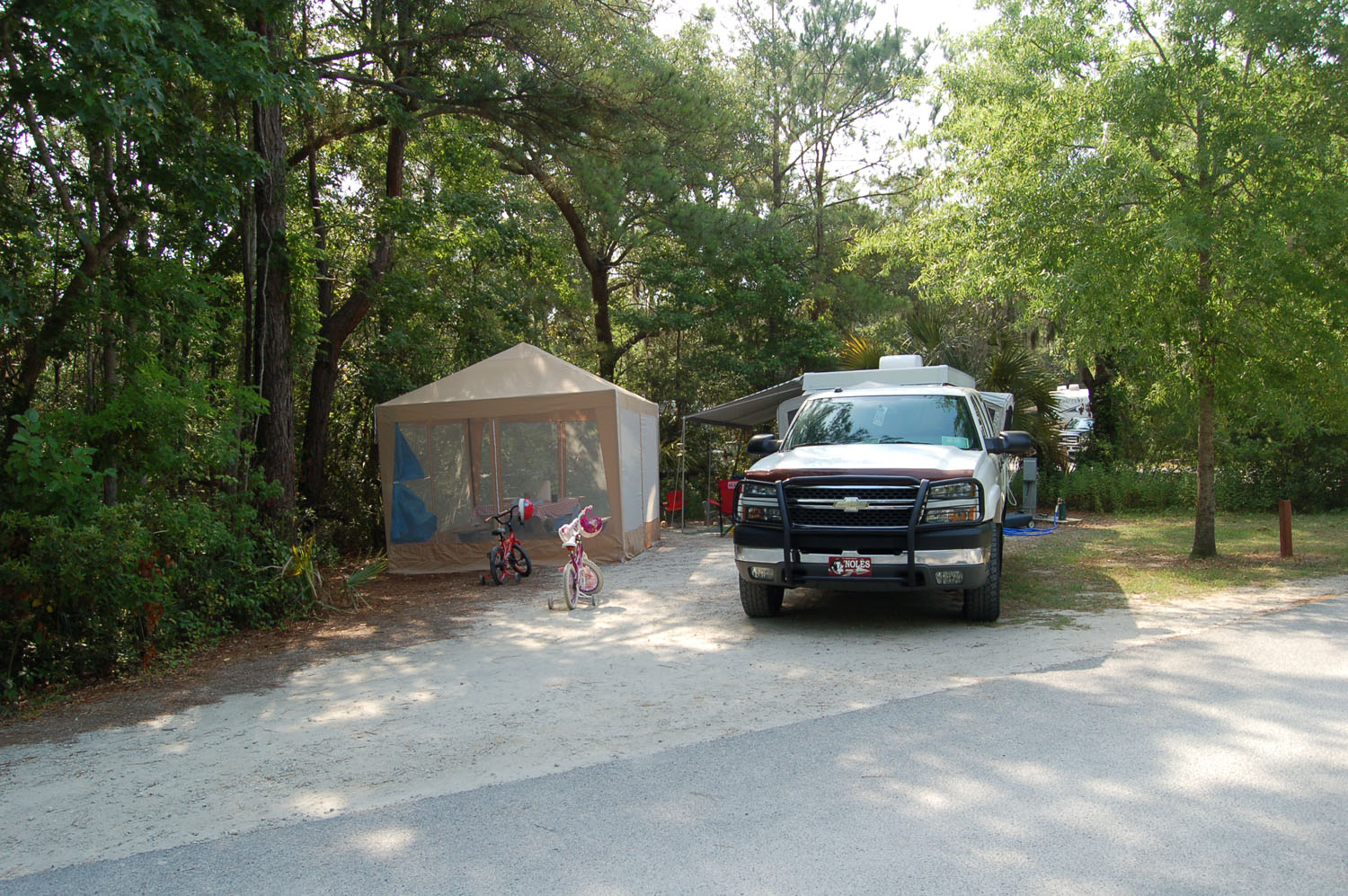 Image of campsite #22 at the Campground at James Island County Park