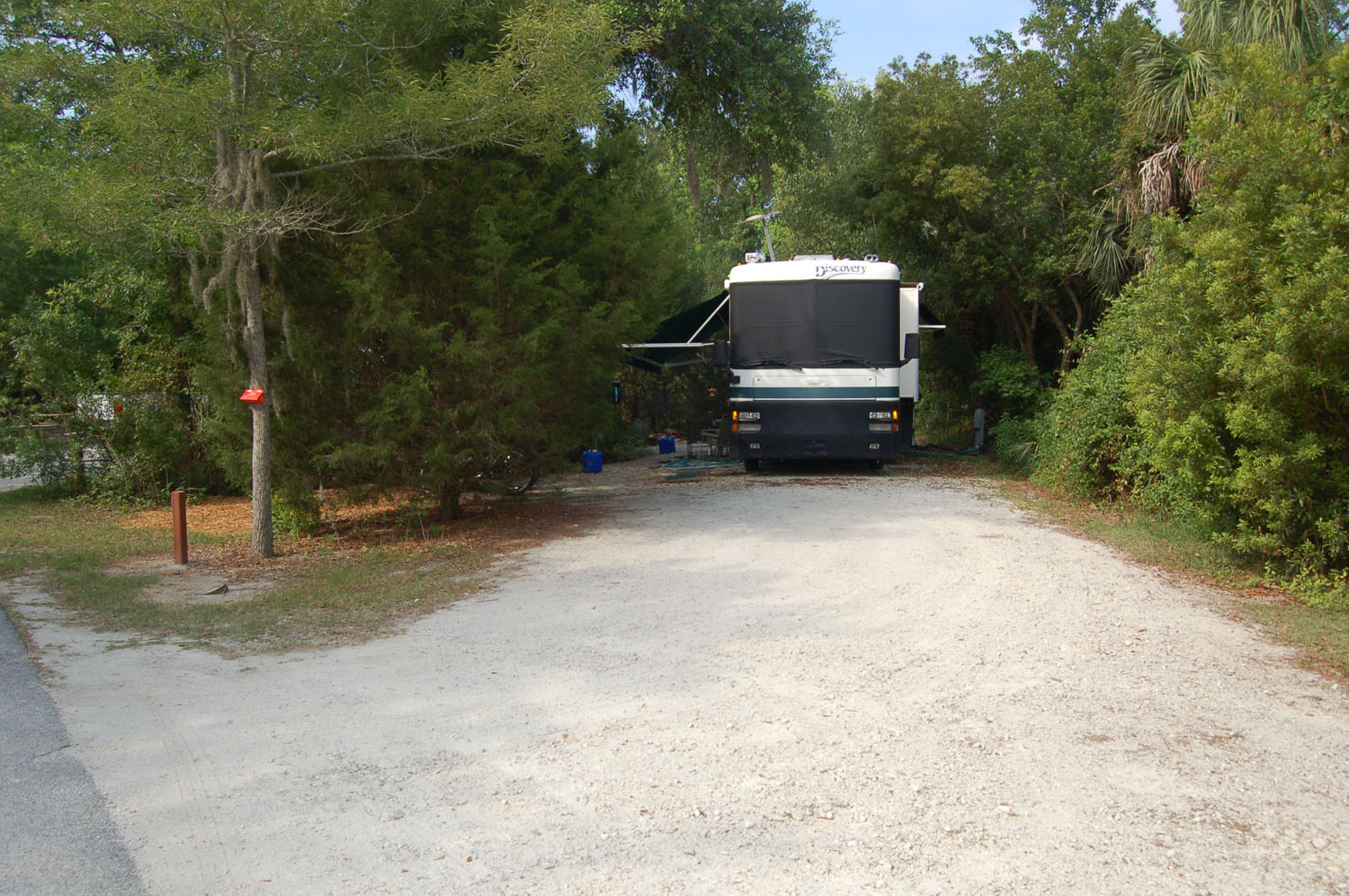 Image of campsite #26 at the Campground at James Island County Park