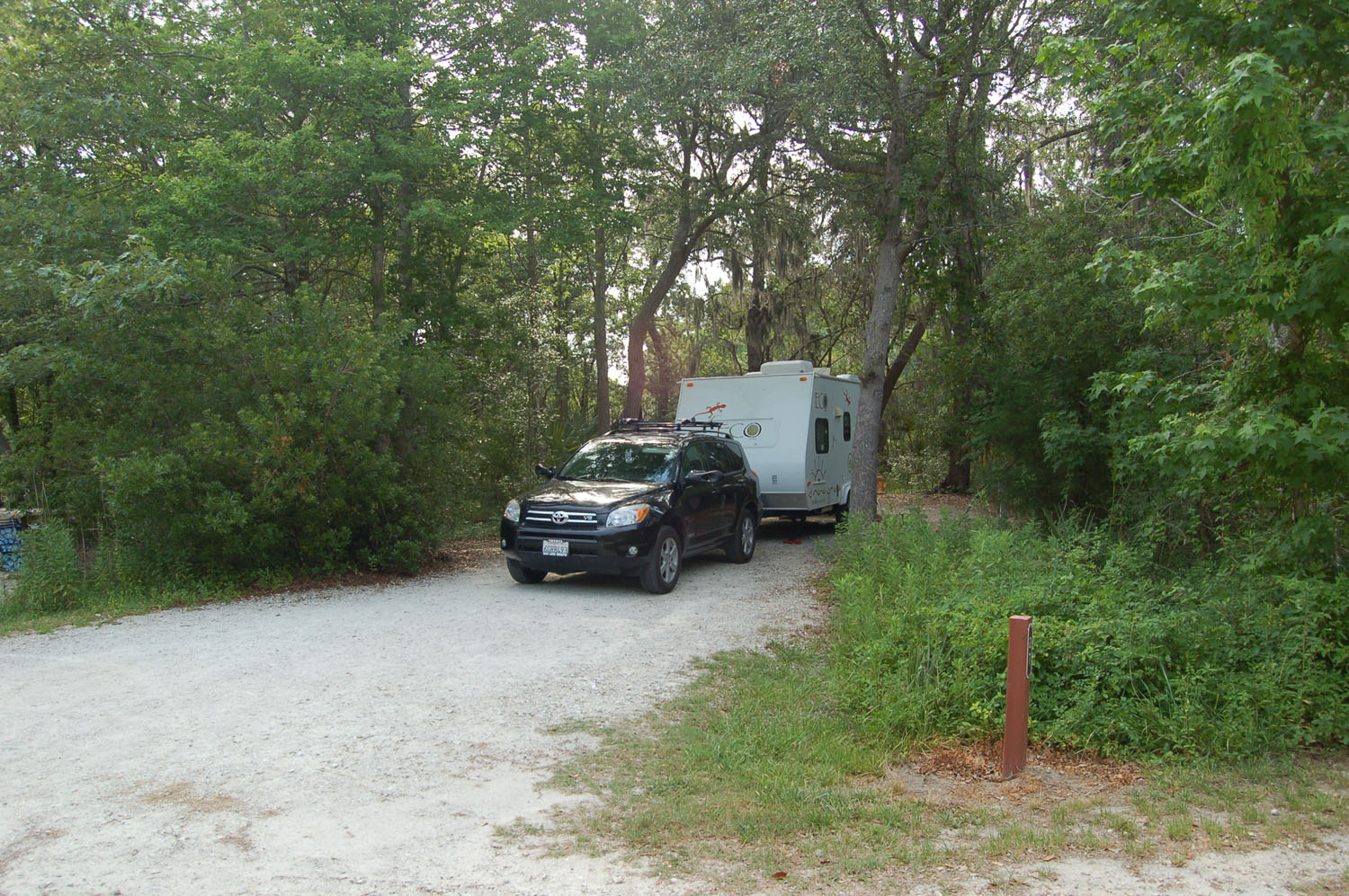 Image of campsite #27 at the Campground at James Island County Park