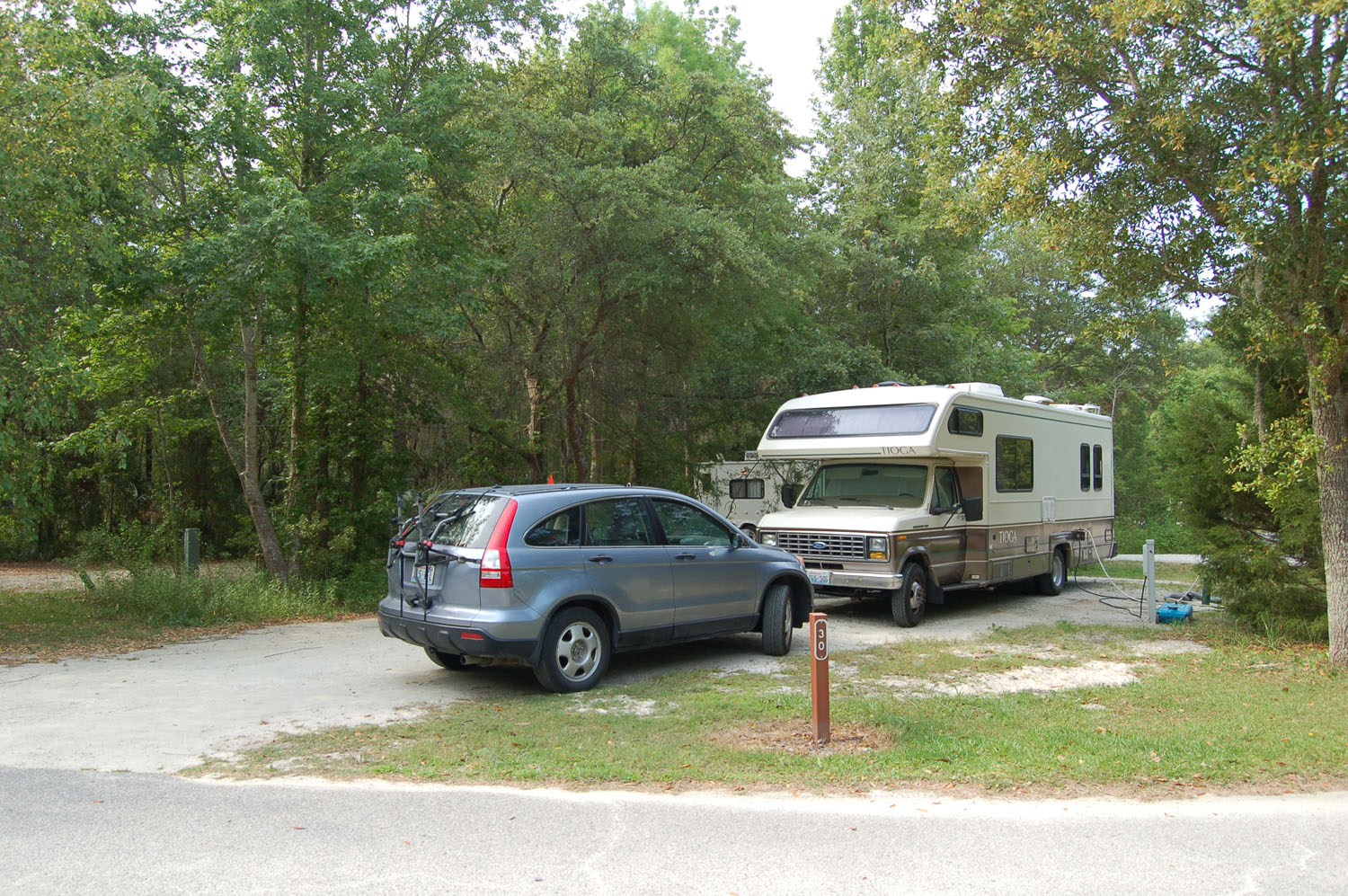 Image of campsite #30 at the Campground at James Island County Park