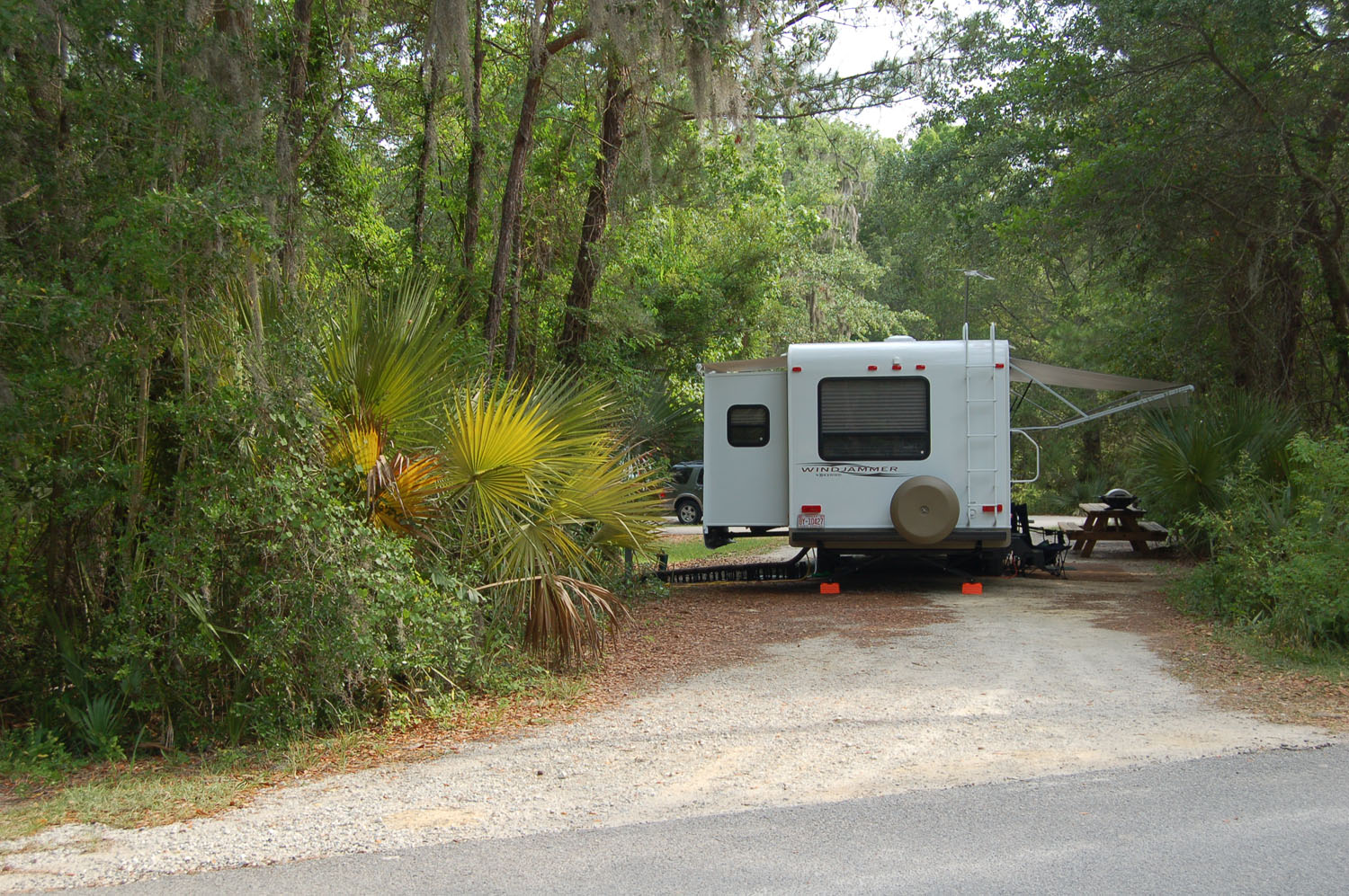 Image of campsite #31 at the Campground at James Island County Park