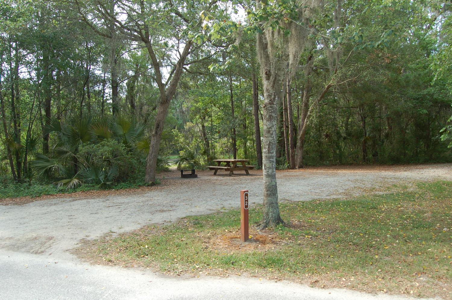 Image of campsite #32 at the Campground at James Island County Park