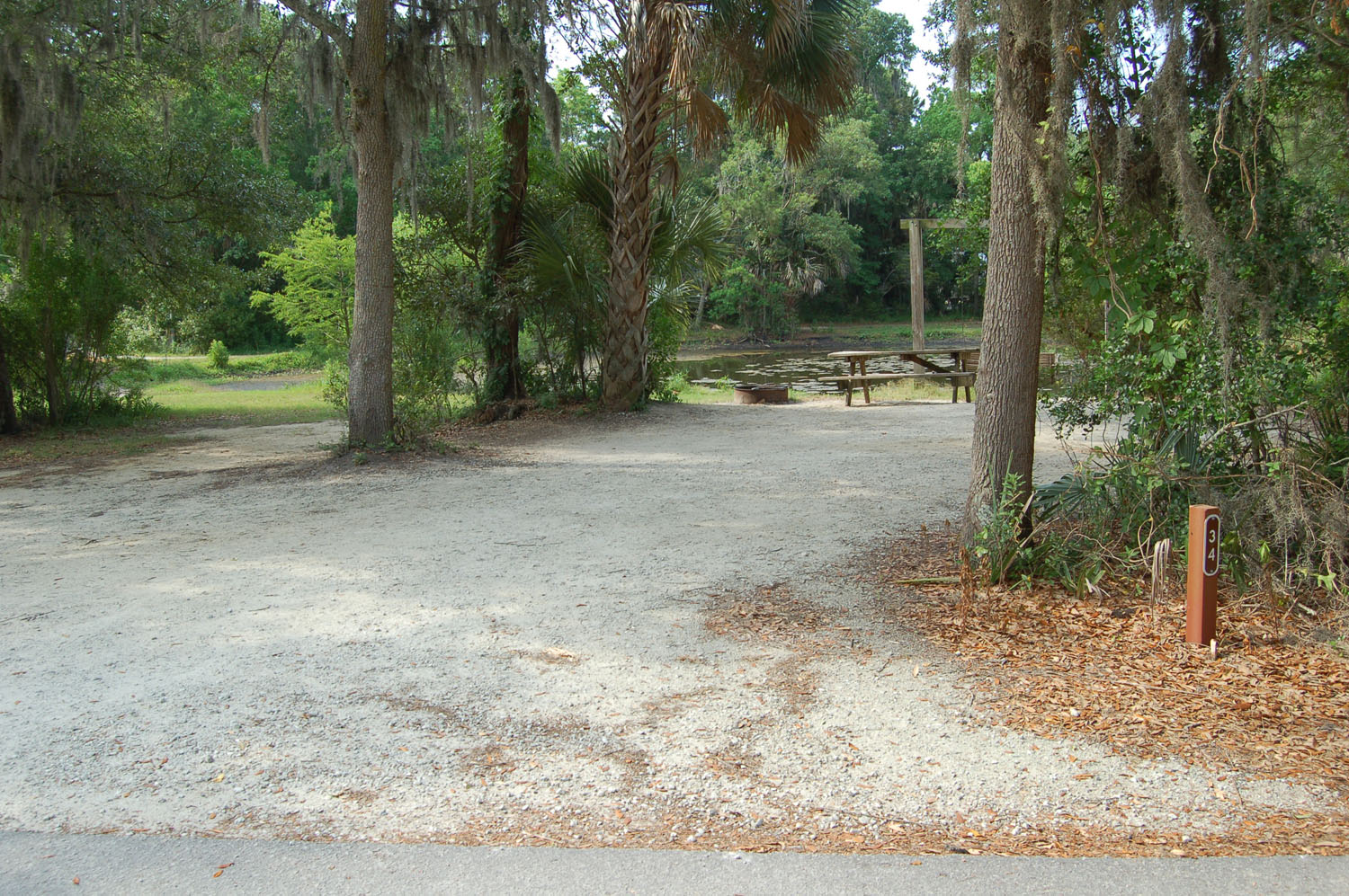 Image of campsite #34 at the Campground at James Island County Park