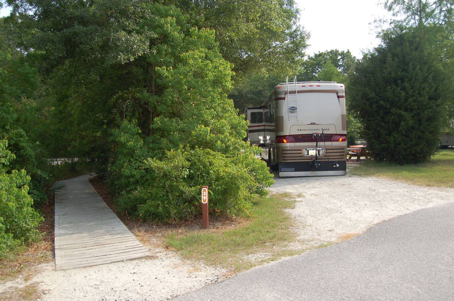 Image of campsite #39 at the Campground at James Island County Park