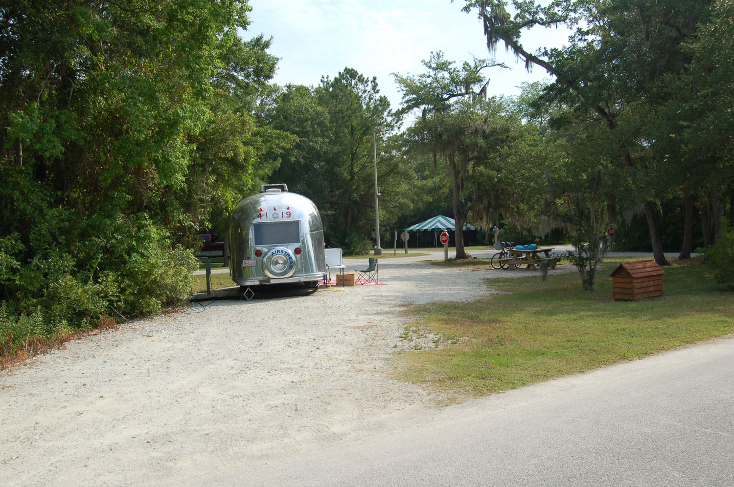 Image of campsite #43 at the Campground at James Island County Park