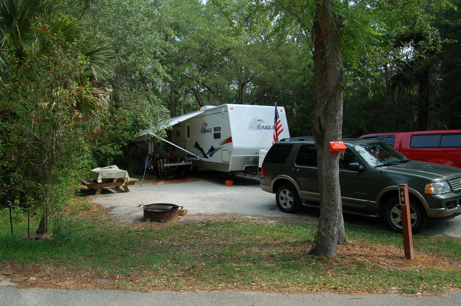 Image of campsite #48 at the Campground at James Island County Park