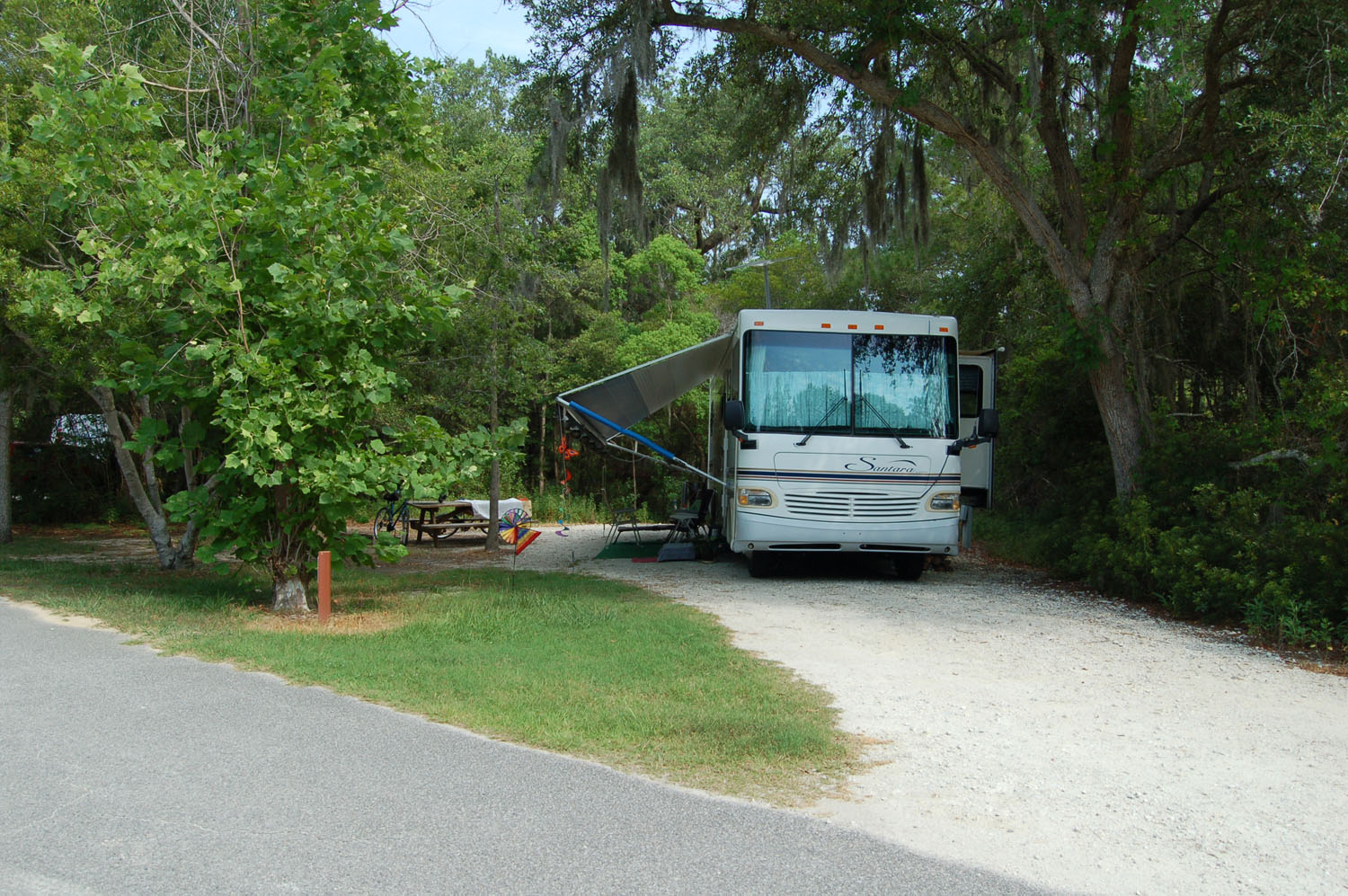 Image of campsite #49 at the Campground at James Island County Park