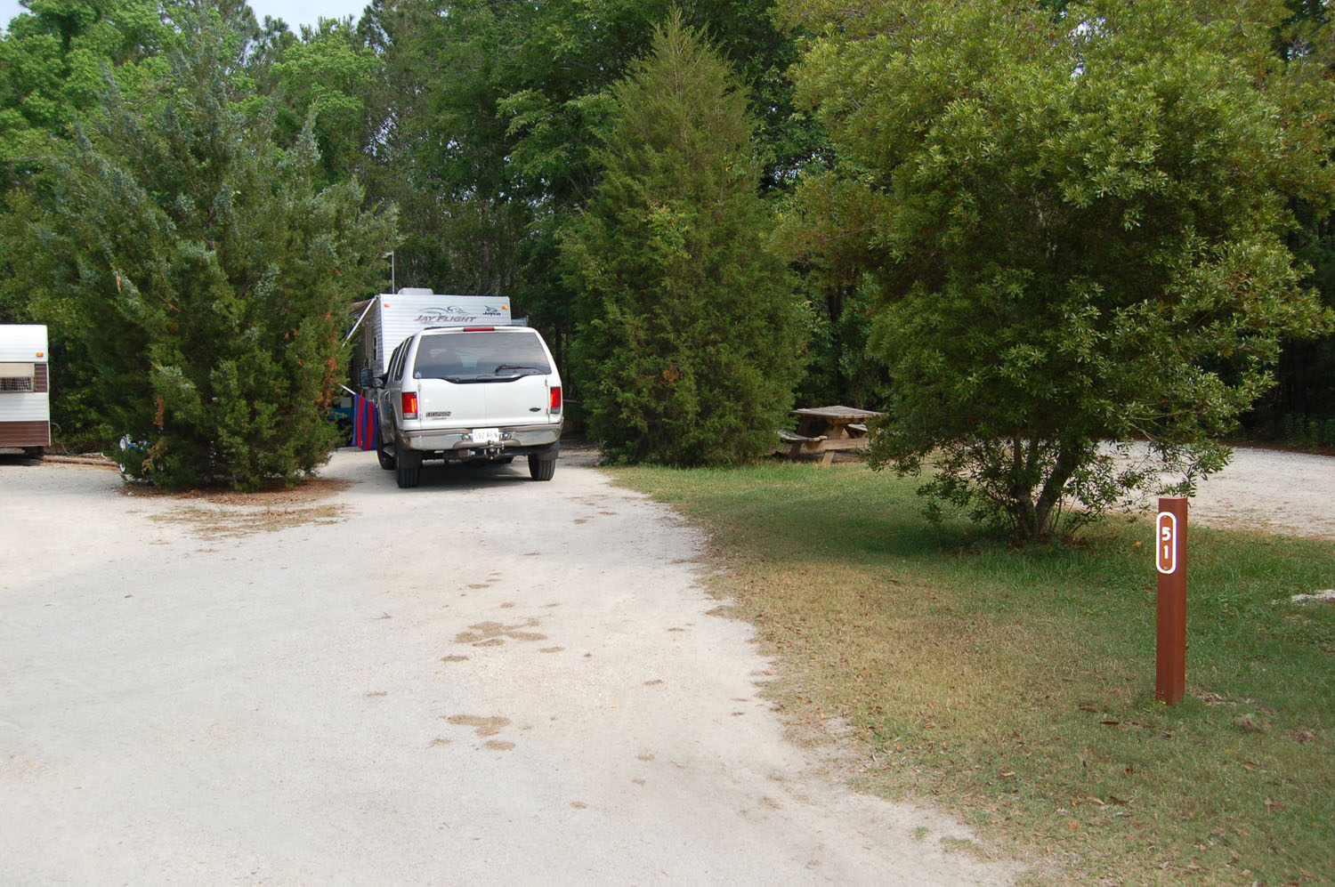 Image of campsite #51 at the Campground at James Island County Park
