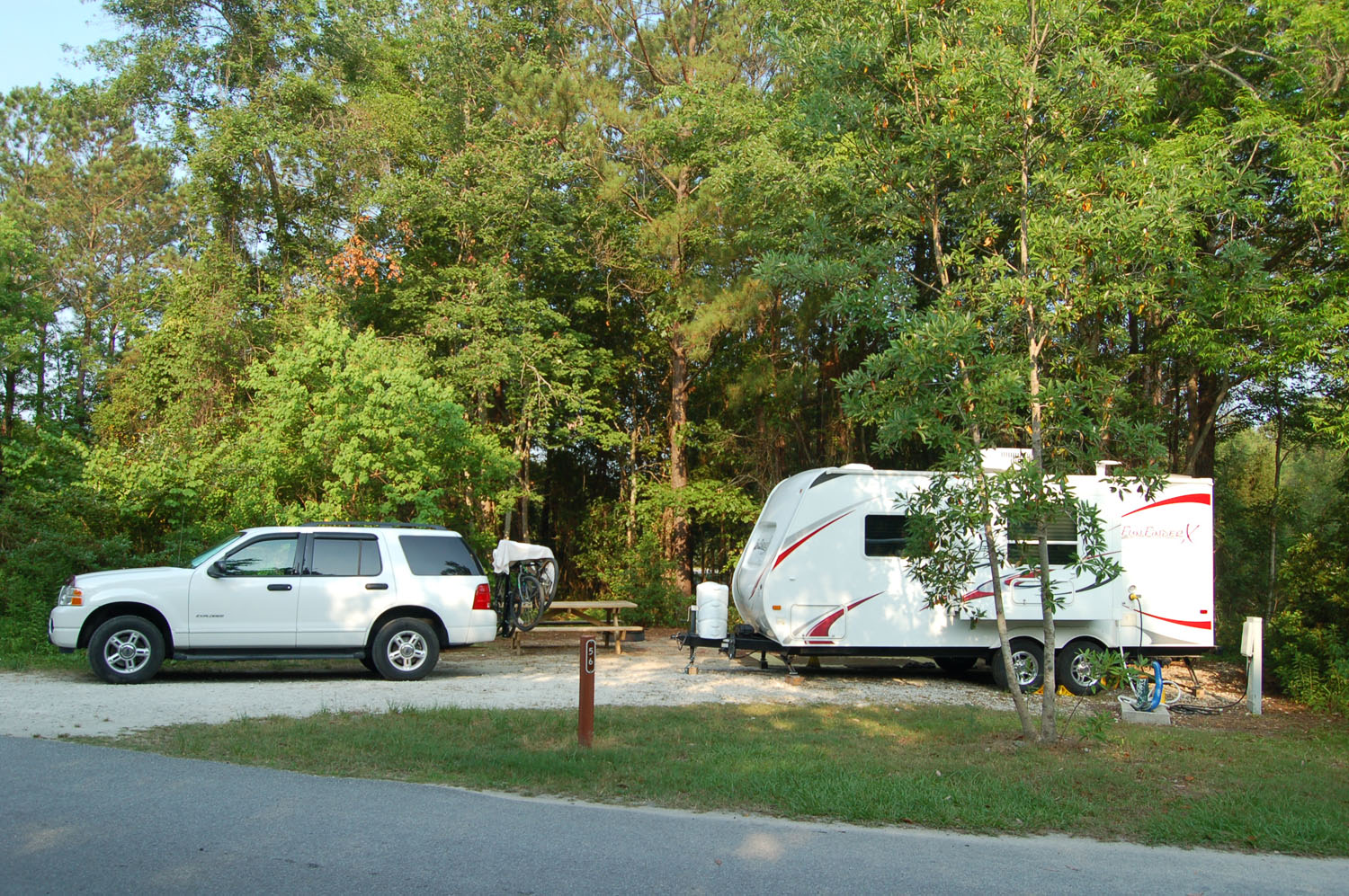 Image of campsite #56 at the Campground at James Island County Park