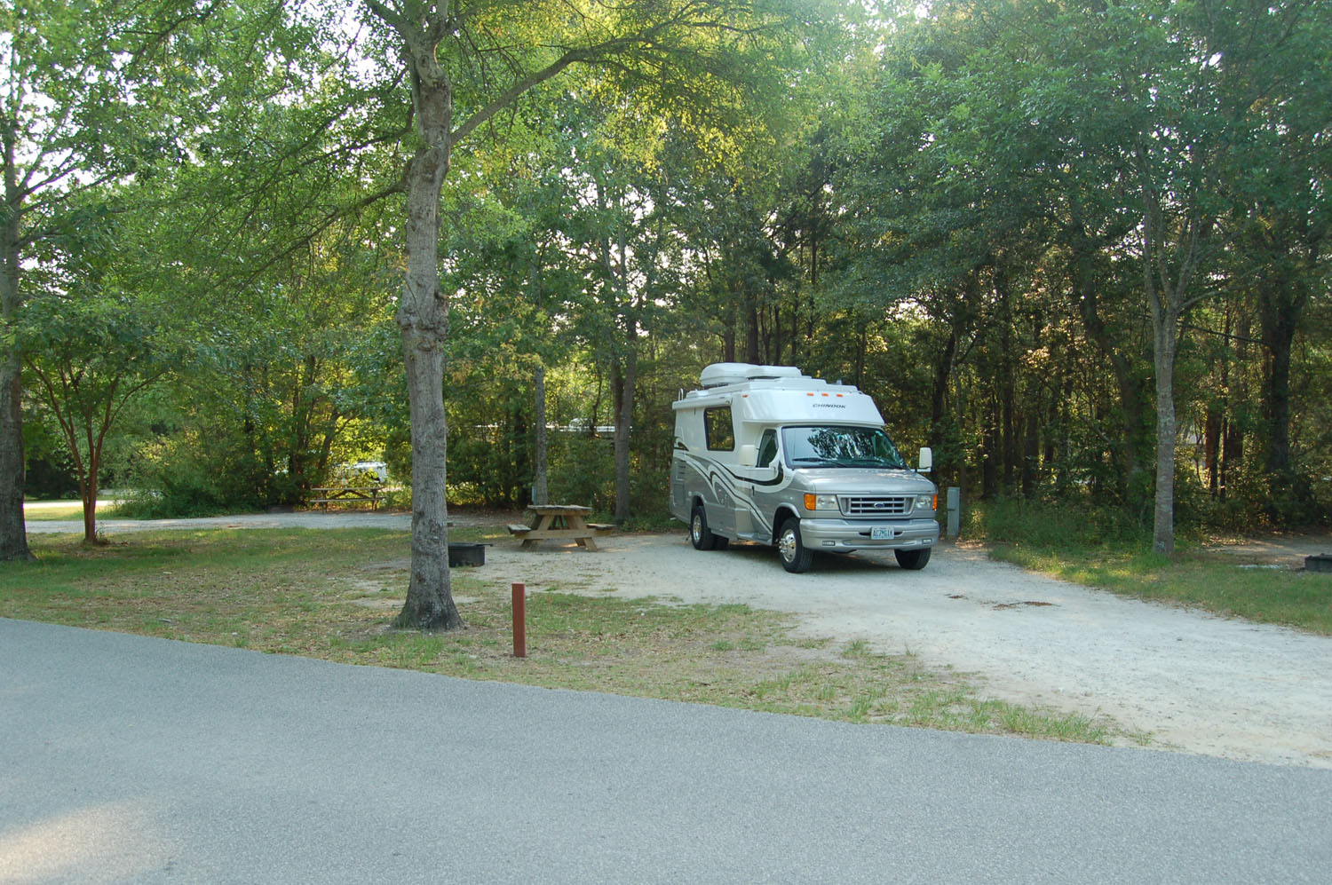 Image of campsite #57 at the Campground at James Island County Park