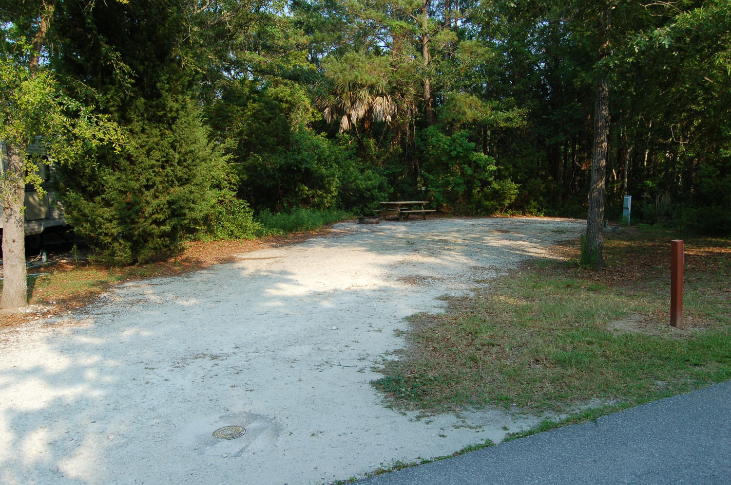 Image of campsite #58 at the Campground at James Island County Park