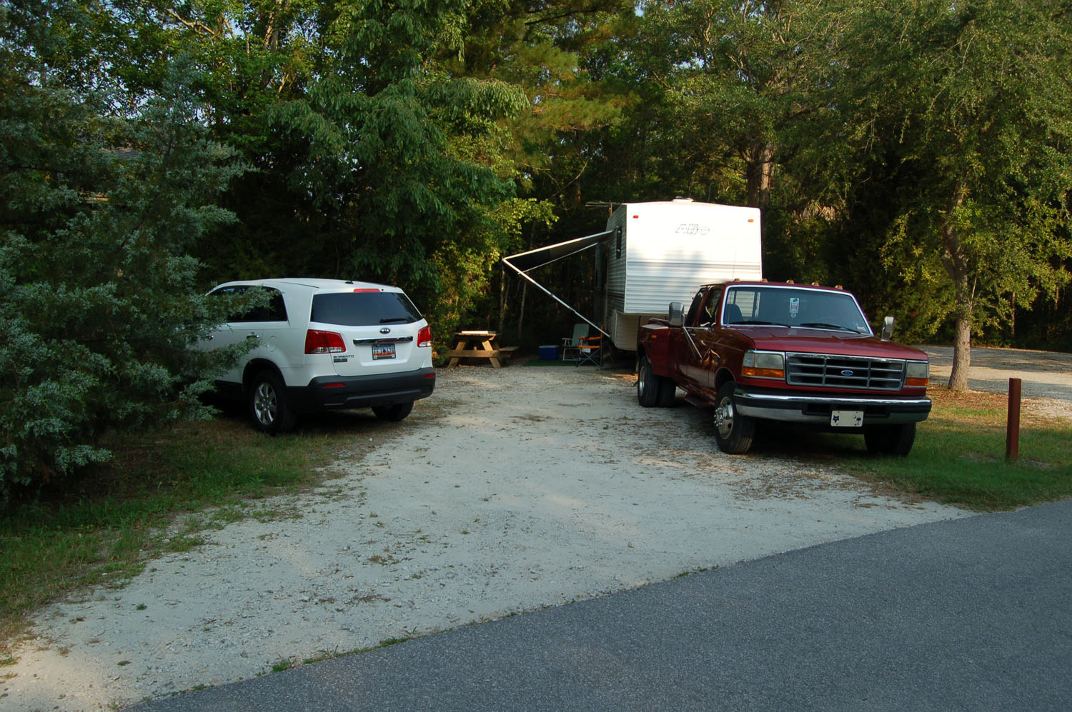 Image of campsite #60 at the Campground at James Island County Park