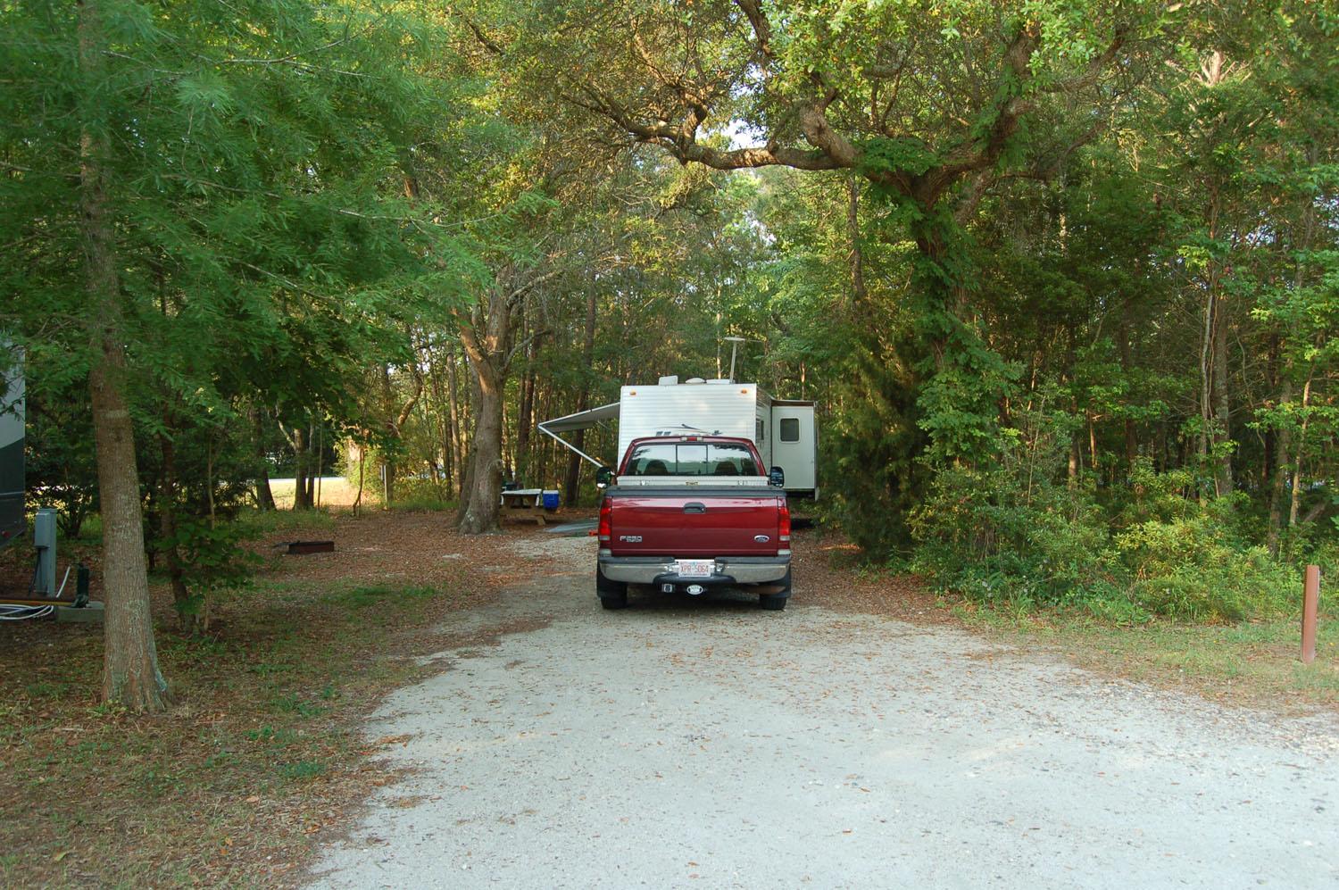 Image of campsite #64 at the Campground at James Island County Park