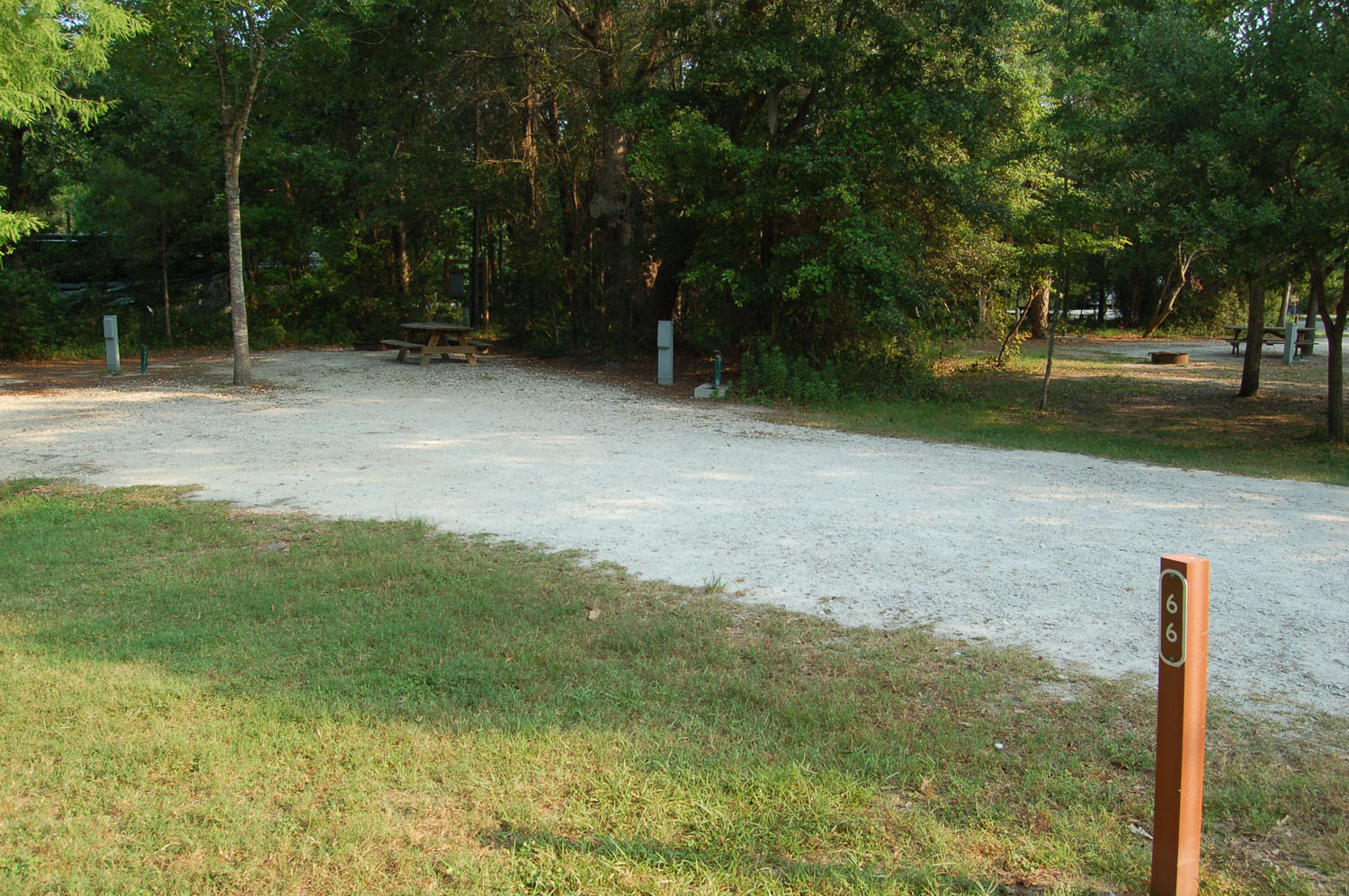 Image of campsite #66 at the Campground at James Island County Park